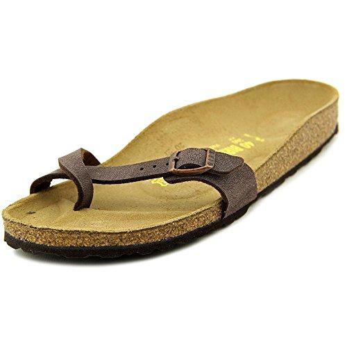 Stock di betulla Piazza sottile in similpelle sandali Brushed Habana Birko-Flor