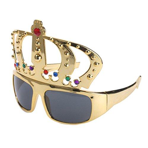 Baoblaze Glitter Gold Krone Sonnenbrille Funbrille Partybrille Spaßbrille -