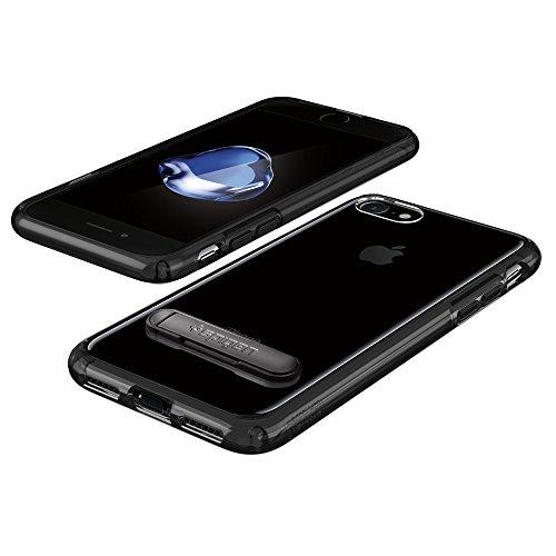 Coque iPhone 8, Coque iPhone 7 / 8, Spigen® [Ultra Hybrid S] Kick Stand [Crystal Clear] Clear back panel + TPU Housse Etui Coque Pour iPhone 7 (2016) et iPhone 8 (2017)- (042CS20753) UHS Noir de jais