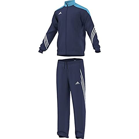 adidas Fußball bekleidung Sere14 Präsentations Trainingsanzug, dunkel blau/super cyan s12/weiß, L, F49713