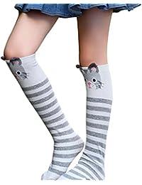 Blaward Baby Kids calcetines hasta la rodilla animal print lindo calcetines largos de algodón para niñas