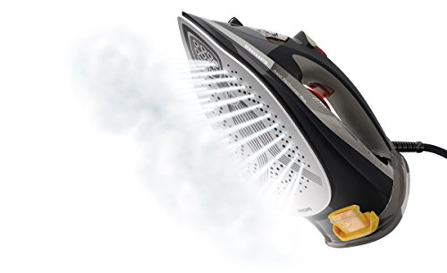 Philips GC4526/87 Azur Performer Plus Steam Iron with 210 g Steam Boost, 2600 W – Black