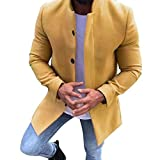 Manadlian Winterjacke Herren Winter Warm Wollmantel Einfarbig Geschäft Beiläufig Graben Mantel Outwear