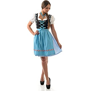 Almwerk ALM Manufacturing Facility Dirndl Mascha 3-Piece Set. Available In Various Colours - Blue - 10