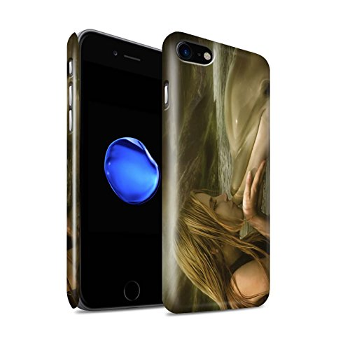 Officiel Elena Dudina Coque / Clipser Brillant Etui pour Apple iPhone 8 / Laisse Moi Entrer Design / Agua de Vida Collection Sonrisas/Dauphin