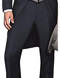 Wilvorst - Pantalón de esmoquin - Básico - para hombre Mitternachtsblau 54