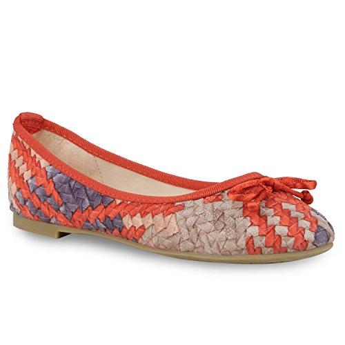 Modische Damen Ballerinas Ketten Halb Schuhe Neon Slipper