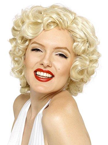 Smifis Damen Perücke Marilyn Monroe Karneval Fasching (Halloween-kostüm Monroe Marilyn)