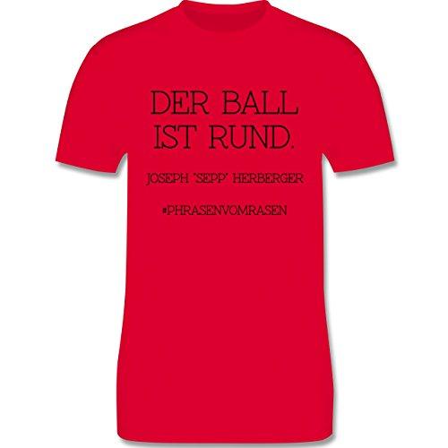 EM 2016 - Frankreich - Der Ball ist rund - Herren Premium T-Shirt Rot