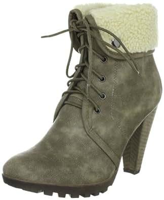 Buffalo Girl 239396 GF 1135 PU 126263, Damen Fashion Halbstiefel & Stiefeletten, Beige (BEIGE 01), EU 38