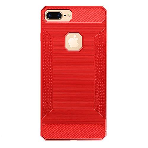 iPhone 7 Plus Coque, Voguecase [Haute Qualité] [Antidéflagrant][Ultra Slim]TPU avec Absorption de Choc, Etui Silicone Souple, Légère / Ajustement Parfait Coque Shell Housse Cover pour Apple iPhone 7 P Rouge