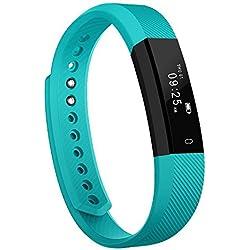 Pulsera Inteligente, Arbily Fitness Tracker Smart Wristband Bracelet monitorear la actividad de seguimiento de Bluetooth Pulsera Brazalete deportivo impermeable IP65 de la aptitud con el podómetro de caloría / / reposo monitor / alarma / SMS llamadas para iPhone IOS Android(Green)