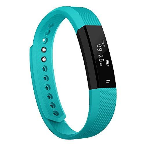 Pulsera Inteligente, Luluking Fitness Tracker Smart Wristband Bracelet monitorear la actividad de seguimiento de botón táctil de Bluetooth Pulsera Brazalete deportivo impermeable IP65 de la aptitud con el podómetro contador de calorías / / reposo monitor