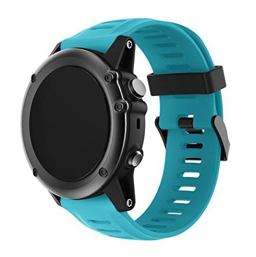 3 Sportuhr Armband - Silikon Sportarmband Uhr Band Strap Ersatzarmband Uhrenarmband mit Werkzeug für Garmin Fenix 3/Fenix 3 HR GPS Smart Watch ()