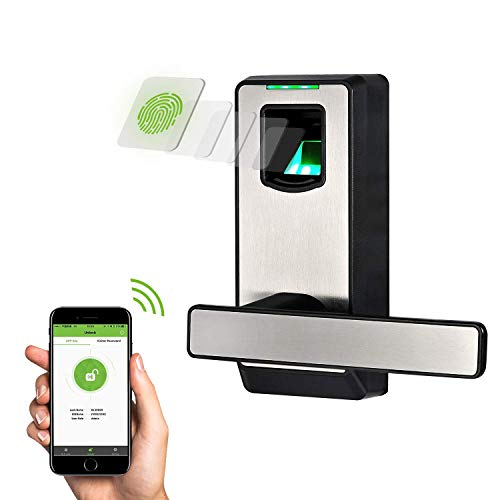 ZKTeco Electronic Smart Lock Biometric Door Lock Fingerprint Door Lock with Bluetooth Keyless Home Entry with Your Smartphone/Fingerprint Locks for Bedroom