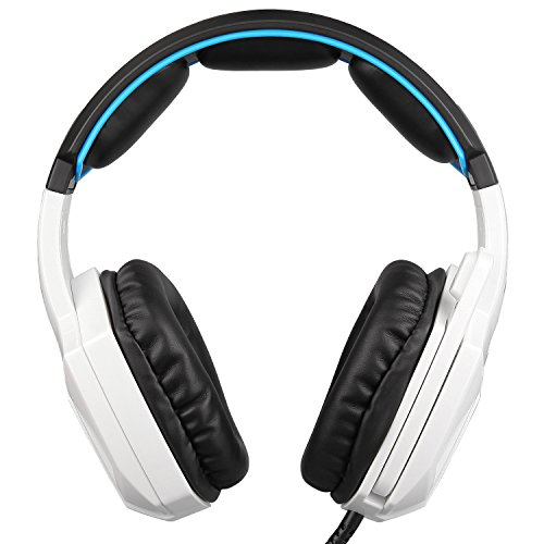 Sades Xbox One PS4 Gaming Headset Over Ear Stereo Gaming Headphones with Microphone for PC / Mac / Laptop – Black/White