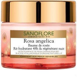 Sanoflore Rosa Angelica Baume de Rosée Ré-Hydratant 48h & Régénérant Nuit 50 ml