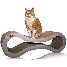 catscratcherz tumbona de gato rascador de espalda | Tamaño Grande, 82cm y la Actividad Toy | mejor que una torre de arañazos Post, Árbol o | ayuda a reducir Pet daños en los muebles y sofás