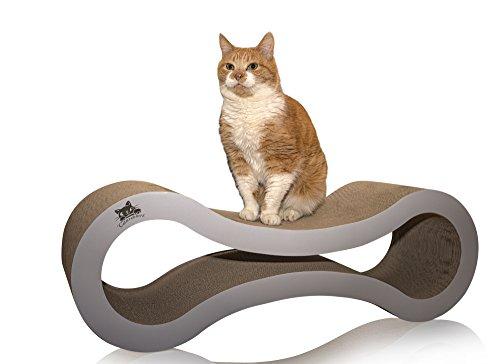 Catscratcherz Katzen-Kratzer Liege | 82cm große Liege und Spielzeug | Besser als ein Kratzbrett, Baum oder Turm | Hilft Kratzschäden auf Möbeln & Sofas zu vermindern. (Groß Katze-bäume Und Türme)