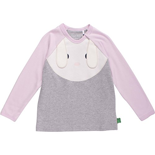 Fred'S World By Green Cotton Bunny Front T, Blouse Bébé Fille, Gris (Pale Greymarl), 12 Mois