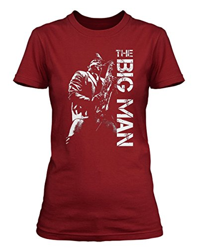 Clarence Clemons Bruce Springsteen & the E Street Band T-shirt, Damen, XX Large, Kremlin Red (Damen-t-shirt Bruce Springsteen)