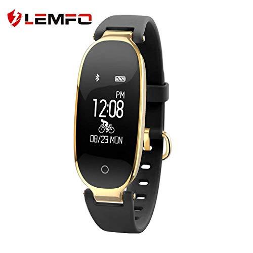 Fitness Armband, Wasserdicht Fitness Tracker, Pulsuhren, Schrittzähler,Kamerasteuerung, Vibrationsalarm Anruf SMS Whatsapp Beachten Kompatibel Mit Iphone Android Handy,Black