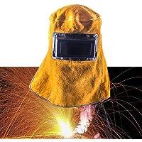HaiMa Máscara De Cuero Para Soldadura Casco Soldador Máscara - Autobús Escolar Amarillo