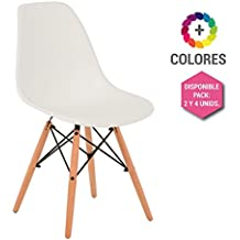 Silla Eames DSW - Tower Wood Blanca