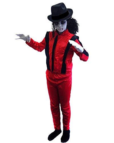 Thriller Kinder Kostüm - ILOVEFANCYDRESS Kinder-Kostüm, Design: Zombie, inspiriert von Michael Jackson, für Jungen und Mädchen, 7-9Jahre
