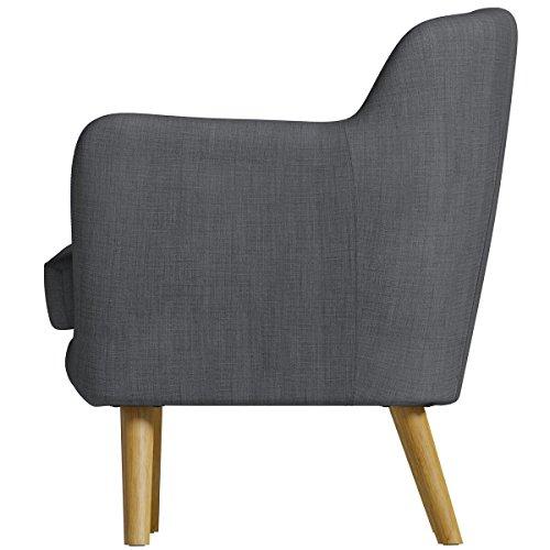 Birlea Furniture Holborn Sofa, Fabric, Charcoal, Large