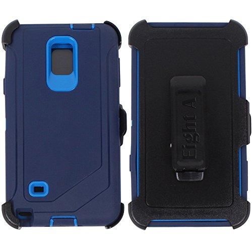 Galaxy Note 4Case, Heavy Duty Defender Auswirkungen Rugged mit Integriertem Displayschutz Camouflage Case Cover für Samsung Galaxy Note 4, Marineblau (Mit Galaxy 4 Case Gürtel-clip Note)
