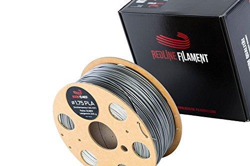 Filament 1.75 PLA 1kg für deinen 3D-Drucker - Hartkartonspule - Premium Qualität aus Holland (Silber)