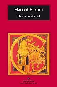 El Canon Occidental par Harold Bloom