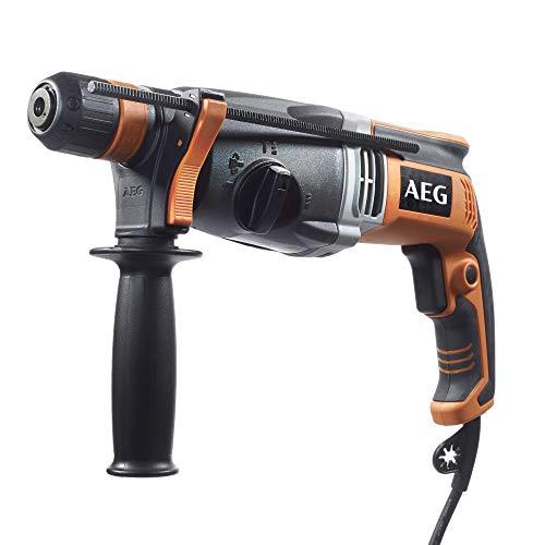 AEG Kombihammer 800 W Motor, Fixtec-Schnellwechselsystem, mit Transportkoffer, Drehstopp-Funktion zum Meißeln-KH 26 XE, 18 V