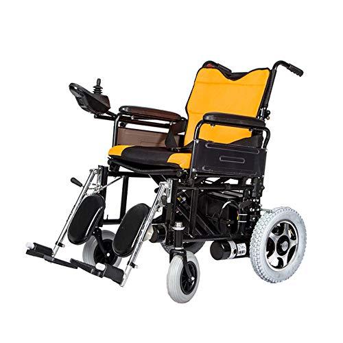 Silla de Ruedas Silla de Ruedas eléctrica, Anciano discapacitado Silla de Ruedas de Freno automático electromagnético, Cuidado portátil Plegable Scooter de Cuatro Ruedas, Capacidad de Carga: 100 kg