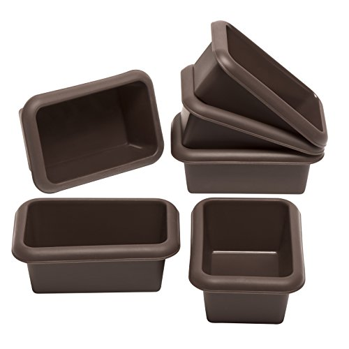 Lurch FlexiForm Mini Batzen Brotbackformen, 6er Set, Silikon, Braun, 9.1 x 5.6 x 3.9 cm