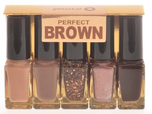 youstar Nagellack Set 5er - Perfect Brown