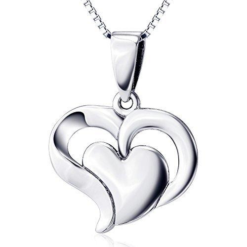 argent-sterling-925double-cur-pendentif-collier-pour-femme-chane-de-457cm