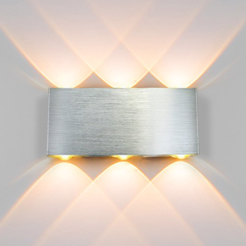 Estela Lámpara de pared de LED, 6W lámpara de pared LED impermeabl,...