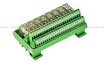 Shavison Relay Module AS395-24V-OE, 2C/O, 8 Channel, 24VDC Coil, OEN Relay, Reverse Blocking Diode, Directly Soldered Relay, Contact Rating : 28VDC/230VAC, 5A