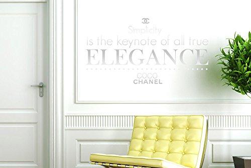 CUT IT OUT CO CO Chanel Simplicity ist der Keynote von alle True Elegance Wall Sticker Art Aufkleber-Medium (Höhe 30cm x Breite 57cm) glänzend Remasuri -