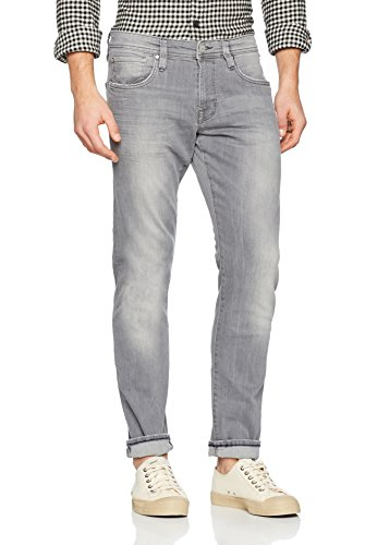 edc by ESPRIT Herren Slim Jeans Grau (Grey Light Wash 923)