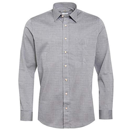 555c41ff1afa5e Almsach Herren Trachten-Mode Trachtenhemd Seppl Regular Fit in Anthrazit  inkl. Volksfestfinder traditionell,