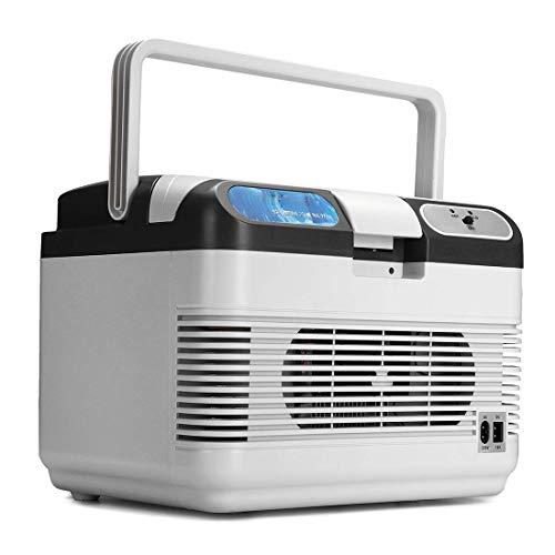 Dxyap 12 Liter 2in1 Kühlbox | EEk A++ | 12 Volt und 220 Volt | Kühltasche | Auto Camping Outdoor Kühlbox & Warmhaltebox | Tragegriff |AC&DC