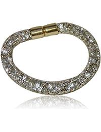 5ae6749001ab3 Argent foncé Cristal Swarovski Element Stardust Bracelet Fermeture  magnétique