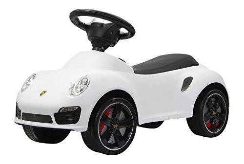 Jamara 460209 - Rutscher Porsche 911 weiß - Kippschutz, Flüsterreifen, echte Scheinwerferattrappen, Hupe am griffigen Lenkrad, offiziell lizenziert mit originalgetreuer Optik, wertige Verarbeitung