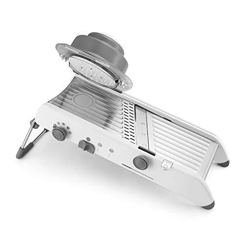 PAVLIT Mandolina Professionale da Cucina, Mandolina Regolabile con Diversi Tipi di Tagli, Affetta Verdure Julienne e Fette, Cambio Automatico, Piedino Antiscivolo