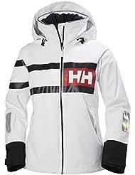 Helly Hansen W Salt Power Jacket Chaqueta Náutica, Mujer, Blanco (White), S