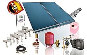 Solarpaket - TWL / Flachkollektorenset - FK 200-4 / 9,36 m² BAFA förderbar