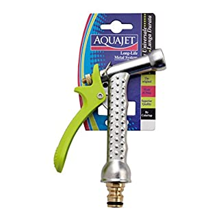 Aquajet 476 B Chromed Spray Gun in Metal with Jet Adjustment in Blister, Silver, 30 x 30 x 30 cm